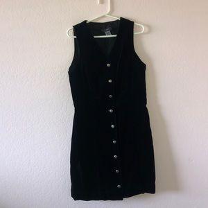 Velvet  Button Down Dress